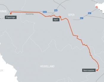 kaart ELIA werken Westhoek